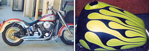 Hendo's Paint & Auto Body > Custom Motorcycle Painting